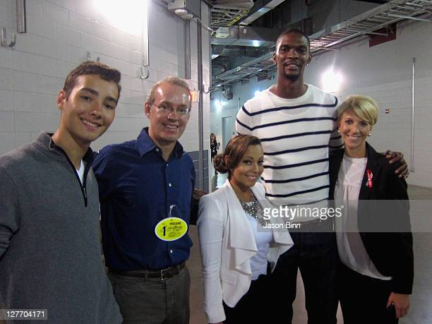 Luc RyanSchreiber Adrienne Bosh Founder and CEO of Gilt Groupe Kevin P Ryan Adrienne Bosh NBA player Chris Bosh and Director Suite Sales at New York...