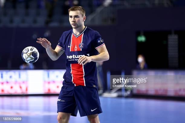 Luc Steins of Paris Saint-Germain passes the ball during the VELUX EHF Champions League FINAL4 semi-final between Aalborg Handbold v Paris...