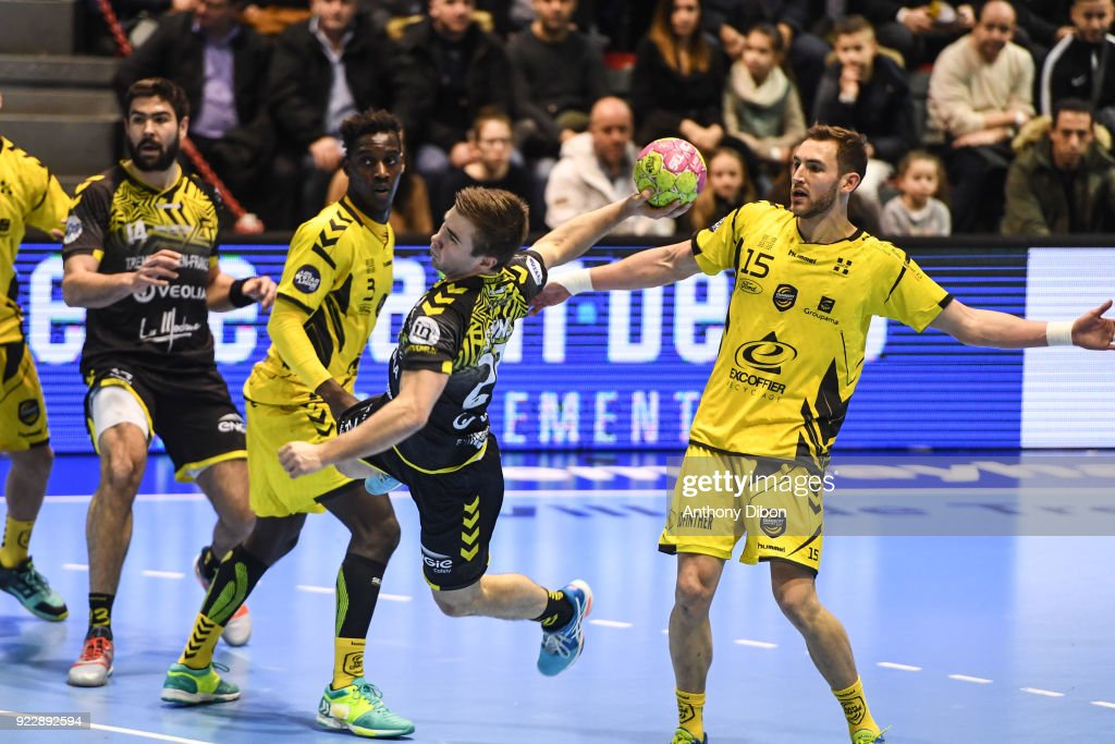 Luc Steins of Tremblay during the Lidl Starligue match between Tremblay and Chambery on February 21, 2018 in Tremblay-en-France, France.