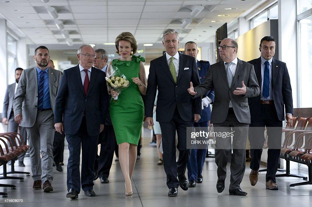 BELGIUM-ROYALS-MEDIA-VRT : News Photo