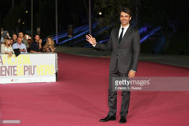 Luca Argantero attends the 'Ragion Di Stato' pink carpet at Auditorium Parco Della Musica as a part of Roma Fiction Fest 2014 on September 16 2014 in...