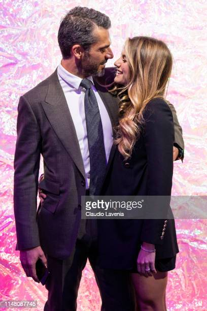 Luca Argentero and Cristina Marino attend the Huawei Fashion Flair event on May 09 2019 in Milan Italy