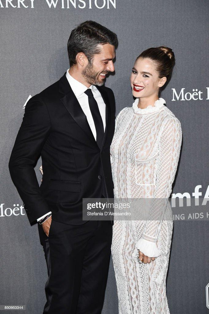 Luca Argentero And Cristina Marino Walk The Red Carpet Of Amfar Gala News Photo Getty Images
