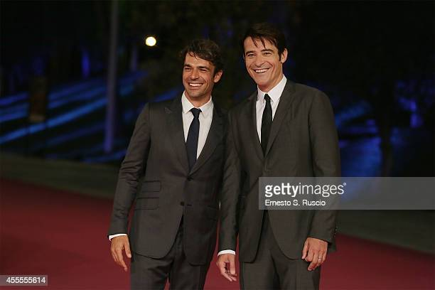 Luca Argentero and Goran Visnjic attend the 'Extant' pink carpet at Auditorium Parco Della Musica as a part of Roma Fiction Fest 2014 on September 16...