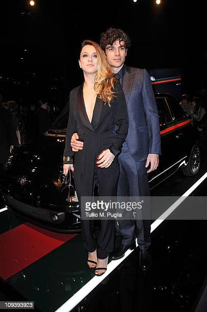 Luca Argentero and Myriam Catania attend the 550 by Gucci launch party during the Milan fashion week womenswear Autumn/Winter 2011 on February 23...