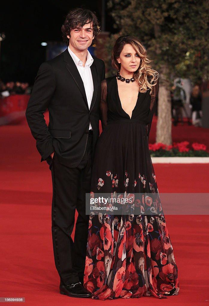 Luca Argentero and Myriam Catania attend the 'E La Chiamano Estate' Premiere during the 7th Rome Film Festival at the Auditorium Parco Della Musica on November 14, 2012 in Rome, Italy.
