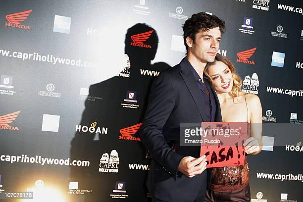 Luca Argentero and Myriam Catania attend the La Donna Della Mia Vita premiere at Barberini Cinema on November 22 2010 in Rome Italy