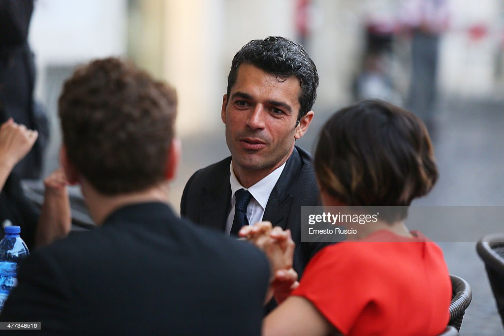 Luca Argentero attends the 2015 Globo D'Oro at Piazza Farnese on June 16, 2015 in Rome, Italy.