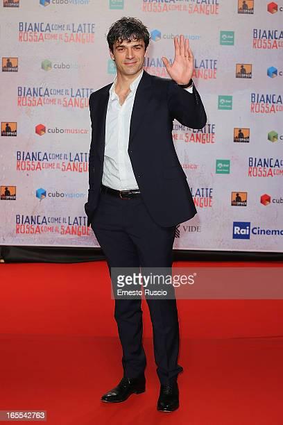 Luca Argentero attends the 'Bianca Come Il Latte Rossa Come Il Sangue' premiere at Space Moderno on April 4 2013 in Rome Italy