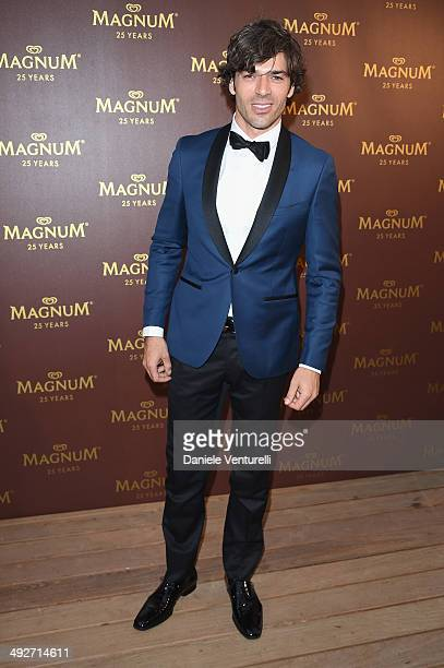 Luca Argentero attends the Magnum 25th Anniversary party during the 67th Annual Cannes Film Festival on May 21 2014 in Cannes France