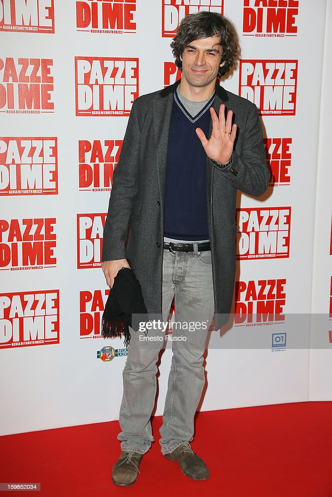 Luca Argentero attends the 'Pazze di Me' premiere at Teatro Sistina on January 21, 2013 in Rome, Italy.