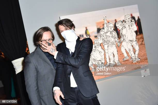 Luca Babini and Thrashbird attend the First Annual Medair Gala at Stephan Weiss Studio on March 30 2017 in New York City