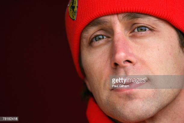 Luca Badoer of Italy and Ferrari looks on during Formula One testing at the Circuit Ricardo Tormo on January 30 2007 in Valencia Spain