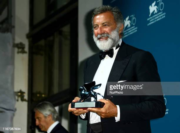 Luca Barbareschi attends the awards ceremony winners photocall of the 76th Venice Film Festival on September 7 2019 at Venice Lido