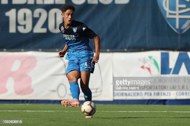 Luca Belardinelli of Empoli FC U19 in action during the match Empoli FC U19 and US Sassuolo U19 on October 20 2018 in Empoli Italy