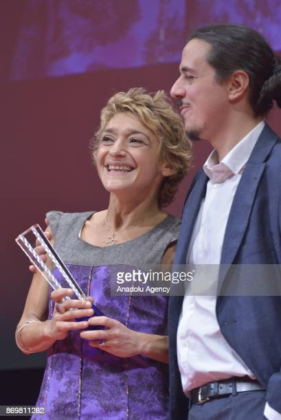 Luca Bellino Silvia Luzi winner the Special Jury Prize for the movie 'Crater' during the closing ceremony of the 30th Tokyo International Film...