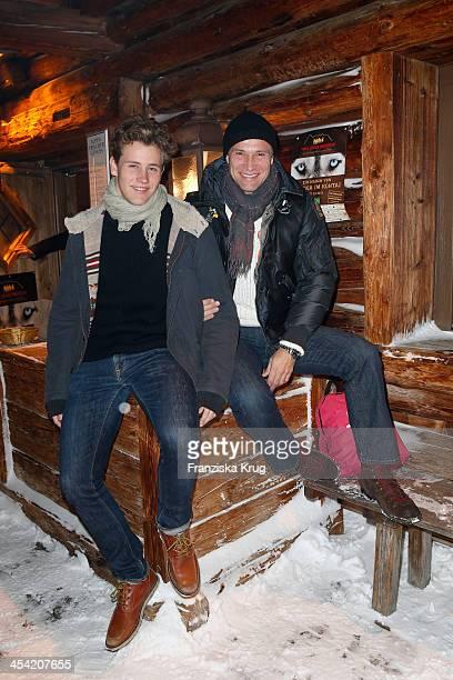 Luca Bettermann and Bernhard Bettermann attend the Dorfstadl Evening - Tirol Cross Mountain 2013 on December 07, 2013 in Innsbruck, Austria.