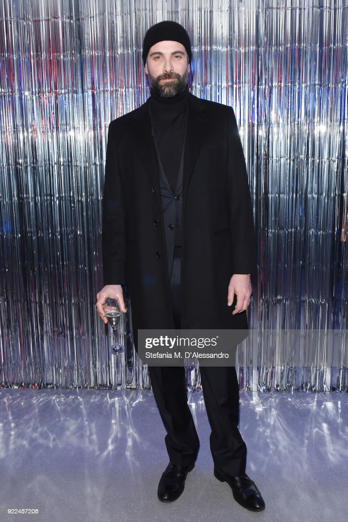 Luca Calvani attends ELIZABETH SULCER X MISS SIXTY on February 21, 2018 in Milan, Italy.