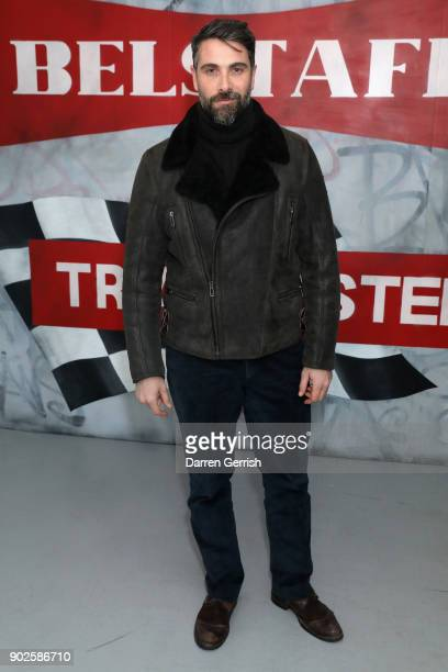 Luca Calvani attends the Belstaff AW18 Mens Womens Presentation during London Fashion Week Men's January 2018 on January 8 2018 in London England