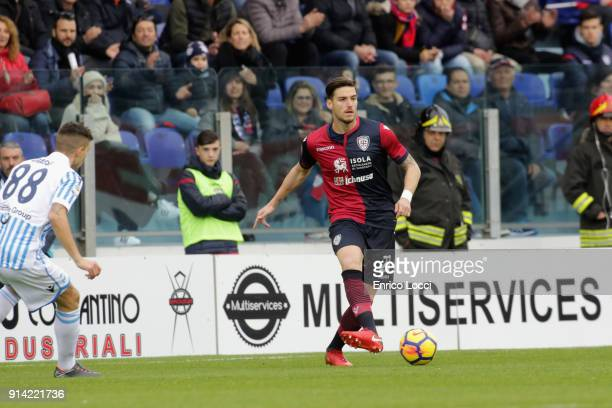 Luca Cepitelli of Cagliari in action during the serie A match between Cagliari Calcio and Spal at Stadio Sant'Elia on February 4 2018 in Cagliari...