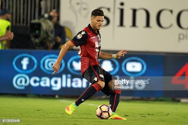 Luca Ceppitelli of Cagliari in action during the Serie A match between Cagliari Calcio and UC Sampdoria at Stadio Sant'Elia on September 26 2016 in...