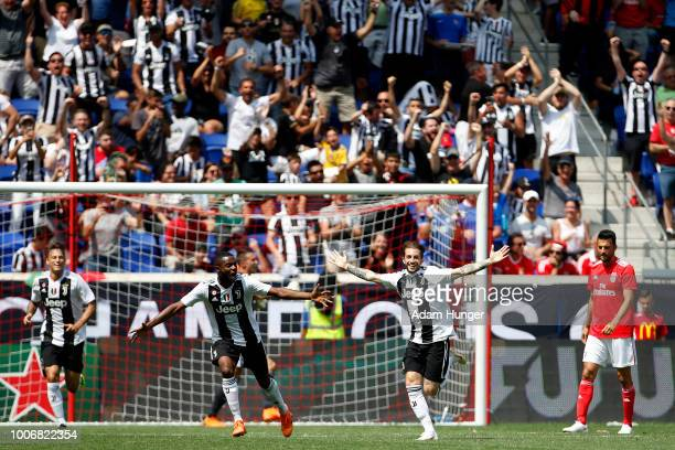 Luca Clemenza of Juventus celebrates scoring a goal against Benfica during the International Champions Cup 2018 match between Benfica and Juventus at...