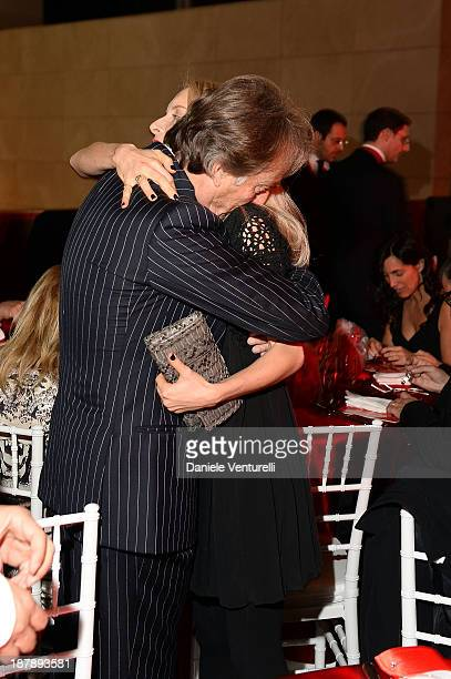 Luca Cordero di Montezemolo and his daughter Clementina Montezemolo attend the Gala Telethon 2013 Roma during The 8th Rome Film Festival on November...