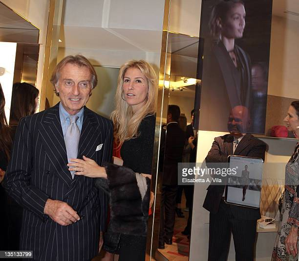 Luca Cordero Di Montezemolo and his wife Ludovica Andreoni attend the Christmas Lights Cocktail Party at the Stella McCartney boutique on December 6...
