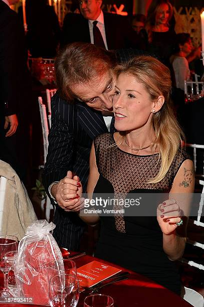 Luca Cordero di Montezemolo and his wife Ludovica Andreoni attend the Gala Telethon 2013 Roma during The 8th Rome Film Festival on November 13 2013...