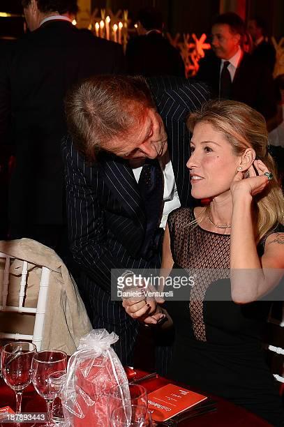 Luca Cordero di Montezemolo and his wife Ludovica Andreoni attend the Gala Telethon 2013 Roma during The 8th Rome Film Festival on November 13 2013...
