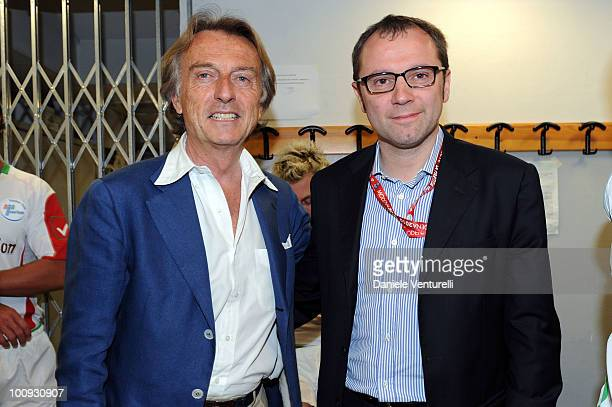 ACCESS** Luca Cordero di Montezemolo and Stefano Domenicali attend the XIX Partita Del Cuore charity football game at on May 25 2010 in Modena Italy