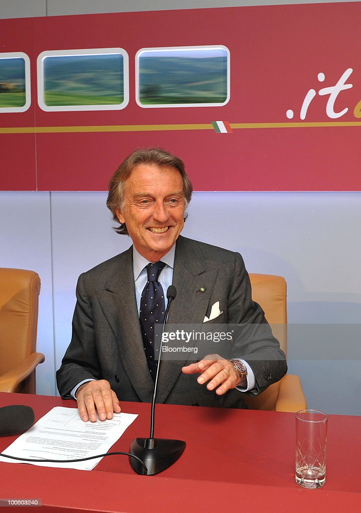 Luca Cordero di Montezemolo, president of Nuovo Trasporto Viaggiatori S.p.A. (NTV), arrives for a news conference at the company's headquarters in Rome, Italy, on Tuesday, May 25, 2010. NTV plans to open a rail service in Italy next summer, using high-speed Alstom AGV trains on the same recently-upgraded tracks currently used by Trenitalia SpA. Photographer: Victor Sokolowicz/Bloomberg via Getty Images