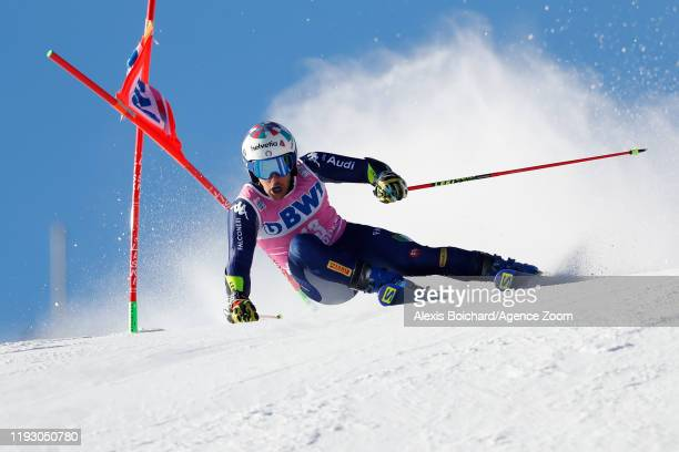 Luca De Aliprandini of Italy competes during the Audi FIS Alpine Ski World Cup Men's Giant Slalom on January 11 2020 in Adelboden Switzerland