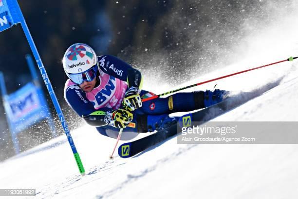 Luca De Aliprandini of Italy in action during the Audi FIS Alpine Ski World Cup Men's Giant Slalom on January 11 2020 in Adelboden Switzerland