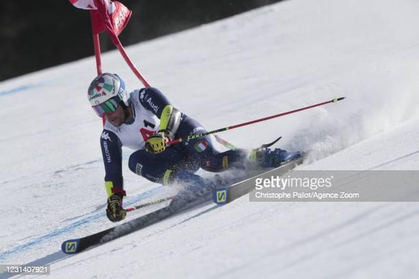 Luca De Aliprandini of Italy in action during the Audi FIS Alpine Ski World Cup Men's Giant Slalom on February 27, 2021 in Bansko Bulgaria.