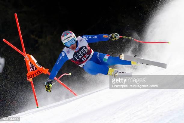 Luca De Aliprandini of Italy in action during the Audi FIS Alpine Ski World Cup Men's Downhill Training on December 26 2017 in Bormio Italy