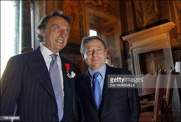 Luca di Montezemolo and Ferrari's team manager french Jean Todt in Rome Italy on July 21st 2005