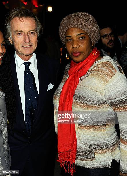 Luca di Montezemolo and Macy Gray attend the celebration of Ferrari's chairman Luca di Montezemolo hosted by Interview's Peter M Brant and Sotheby's...