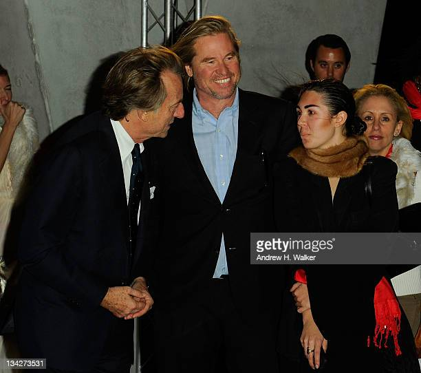 Luca di Montezemolo Val Kilmer and Mercedes Kilmer attend the celebration of Ferrari's chairman Luca di Montezemolo hosted by Interview's Peter M...