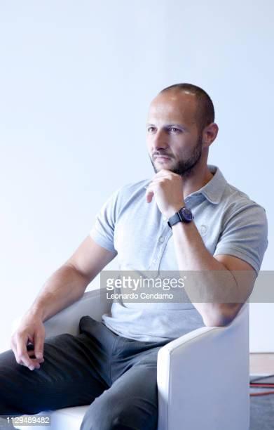 Luca Di Persio, Italian writer, Turin, Fiera del libro 2011.