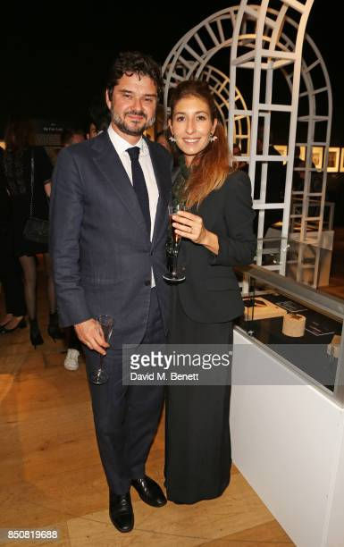 Luca Dotti and Domitilla Dotti attend the opening reception for Audrey Hepburn The Personal Collection at Christie's on September 21 2017 in London...
