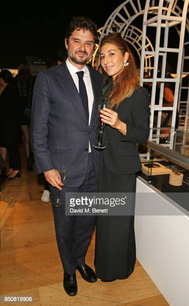Luca Dotti and Domitilla Dotti attend the opening reception for 'Audrey Hepburn The Personal Collection' at Christie's on September 21 2017 in London...