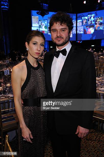 Luca Dotti and guest attend the Unicef SnowFlake Ball at Cipriani 42nd Street on November 27 2012 in New York City