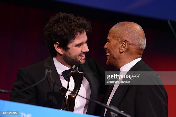Luca Dotti and Harry Belafonte attend the Unicef SnowFlake Ball at Cipriani 42nd Street on November 27 2012 in New York City