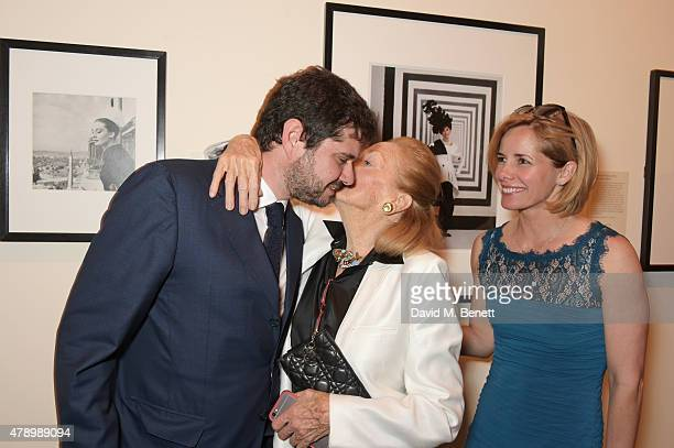 Luca Dotti Doris Brynner best friend of Audrey Hepburn and Darcey Bussell attend a private view of new exhibition Audrey Hepburn Portraits Of An Icon...