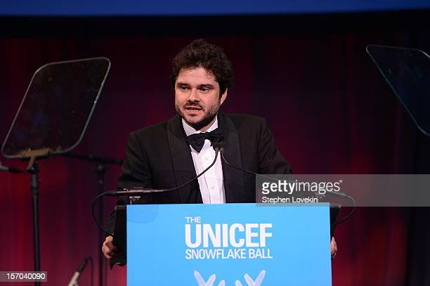 Luca Dotti presents at the UNICEF SnowFlake Ball presented by Baccarat at Cipriani 42nd Street on November 27 2012 in New York City