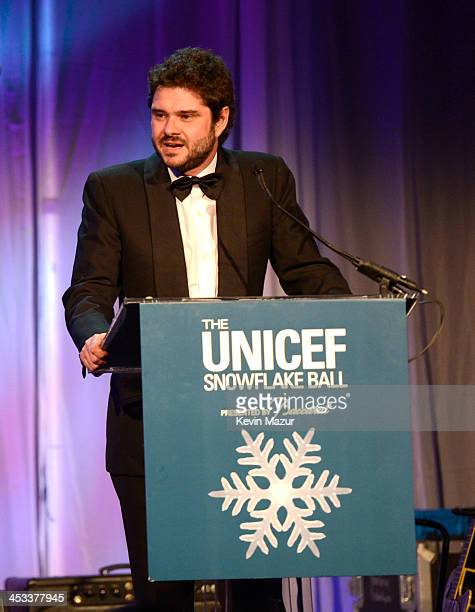 Luca Dotti speaks on stage at The Ninth Annual UNICEF Snowflake Ball at Cipriani Wall Street on December 3 2013 in New York City