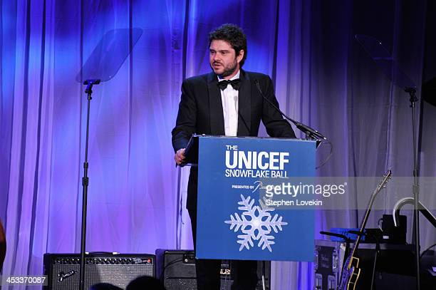 Luca Dotti speaks onstage at The Ninth Annual UNICEF Snowflake Ball at Cipriani Wall Street on December 3 2013 in New York City