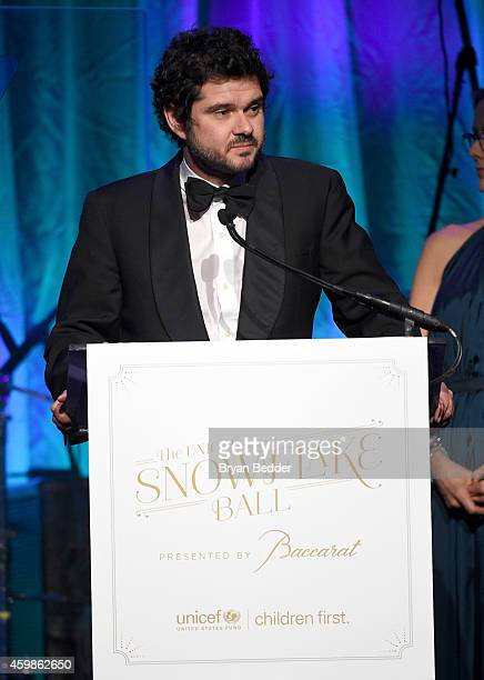 Luca Dotti speaks onstage at the Tenth Annual UNICEF Snowflake Ball at Cipriani Wall Stree on December 2 2014 in New York City