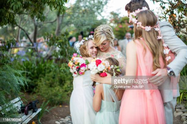 Luca Facinelli Jennie Garth Fiona Facinelli Dave Abrams and Lola Facinelli are seen during Garth and Abrams' wedding at a private residence July 11...